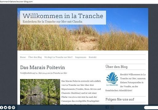 Capture d'écran Blog La Tranche 4